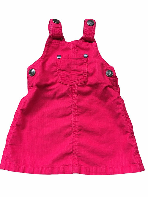 TU Up to 3 months Red Cord Pinafore Dress