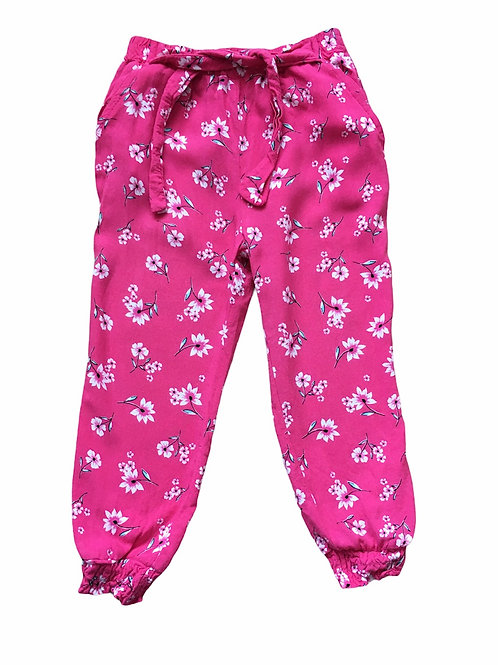 Primark 2-3 years Lightweight Pink Floral Trousers