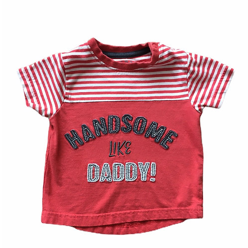 Nutmeg 12-18 months Handsome Like Daddy T-shirt