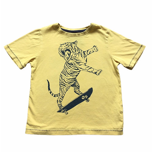 TU 4 years Yellow Skateboarding Tiger T-Shirt