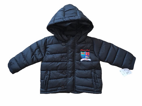 Honour & Pride 6-12 months Black Padded Coat with Hood - BRAND NEW