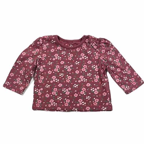 Primark 0-3 months Pink Floral Long Sleeve Top