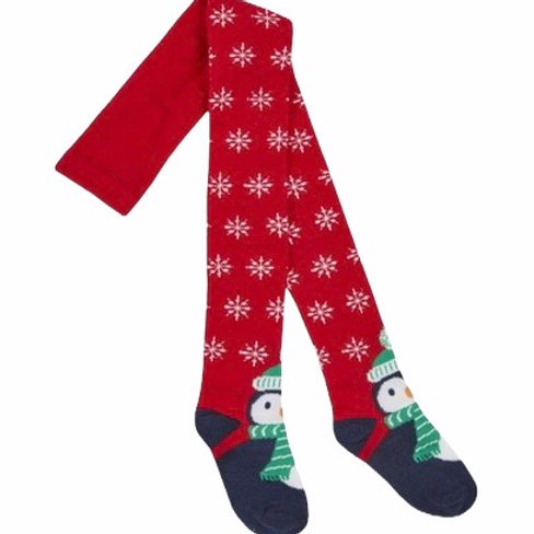 5-6 years Snowflake and Penguin Christmas Tights - BRAND NEW
