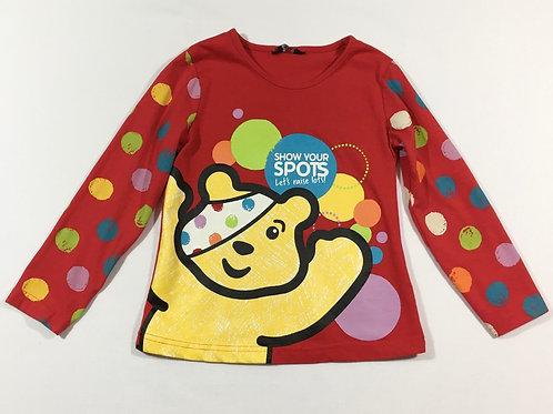 George 5-6 Children in Need Pudsey Bear Long Sleeve Top