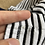 Thumbnail: George 4-5 years White, Black and Silver Striped Top (Tiny Mark - See 2nd photo)