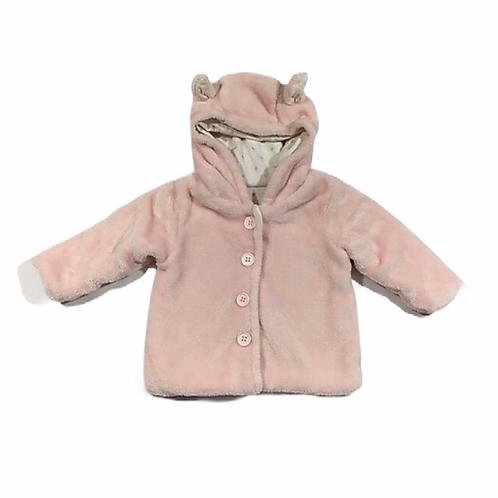 TU 0-3 months Baby Pink Hooded Coat