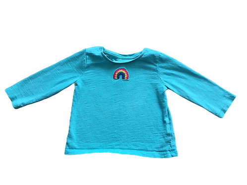 Next 6-9 months Turquoise Rainbow Long Sleeve Top