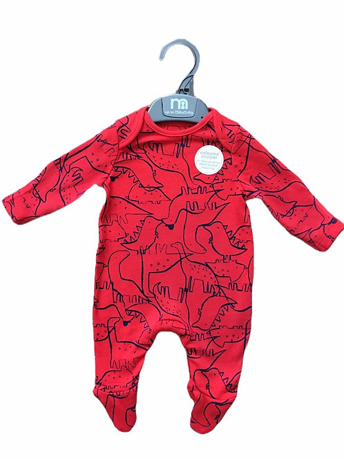 Mothercare 9-12 months Red Dinosaur Sleepsuit - BRAND NEW