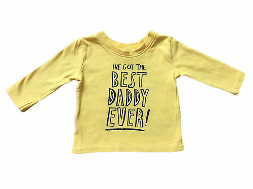 George 0-3 months Yellow Best Daddy Ever Long Sleeve Top
