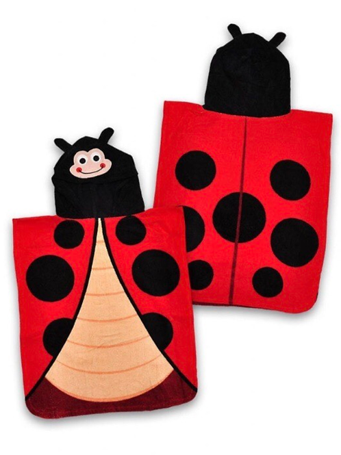 George Ladybird Hooded Poncho Towel - BRAND NEW