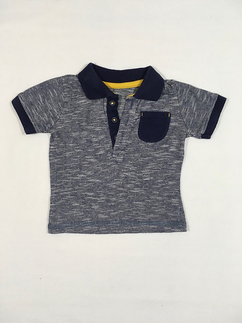 George 0-3 months Navy T-shirt with Collar