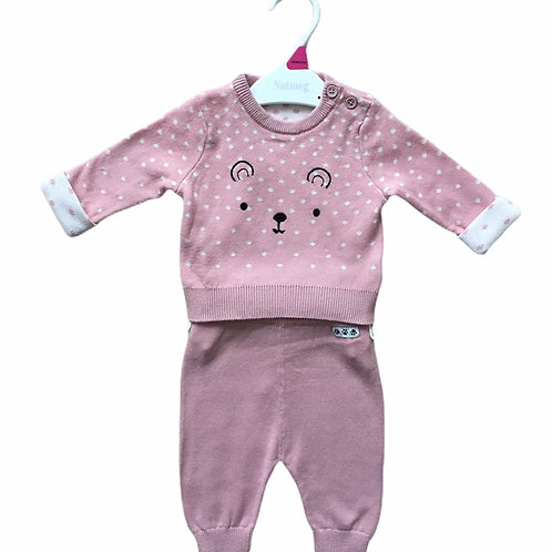 Ex Chain Store 6-9 months 2 piece Knitted Teddy Set - BRAND NEW
