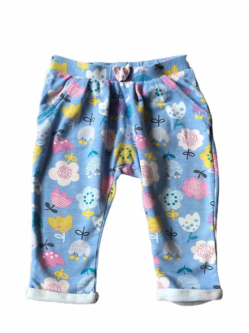 Nutmeg 6-9 months Blue Floral Trousers