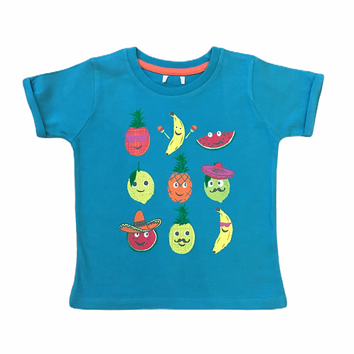 Ex Chain Store 2-3 years Blue Fruit T-Shirt - BRAND NEW