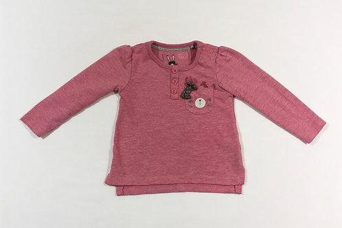 TU 3-6 months Pink Long Sleeve Rabbit Top