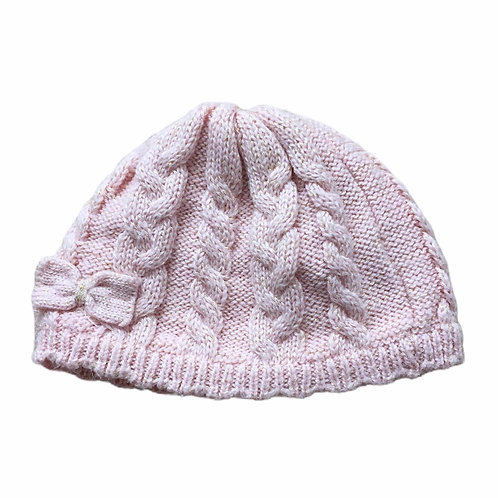 George 6-12 months Pink Knitted Winter Hat