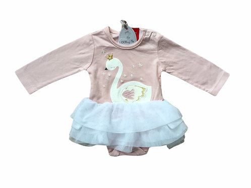 TU Up to 1 month Swan Long Sleeve Bodysuit with Tutu - BRAND NEW