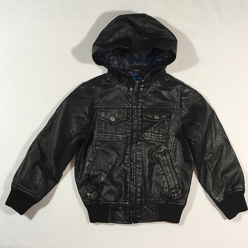 Primark 3-4 years Leather Effect Hooded Jacket (faint name on the label)