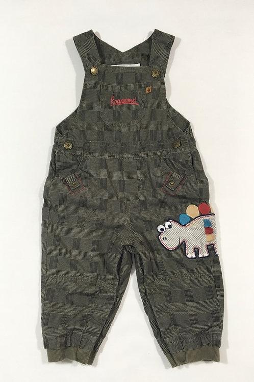 M&Co. 6-9 months Khaki Dinosaur Dungarees