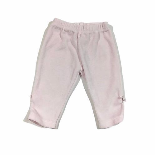 0-3 months Baby Pink Velour Leggings