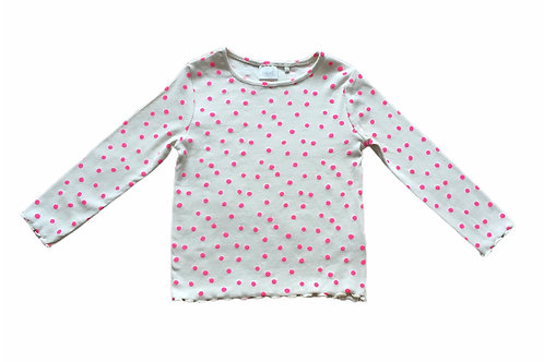 Ex Chain Store 12-18 months Cream with Neon Polka Dots Top - BRAND NEW
