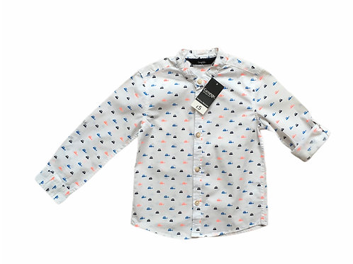 George 2-3 years White Car Shirt BRAND NEW - PLAYWEAR