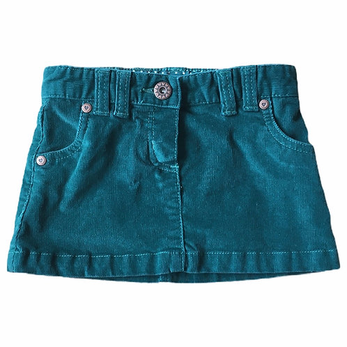 John Lewis 2 years Green Cord Skirt