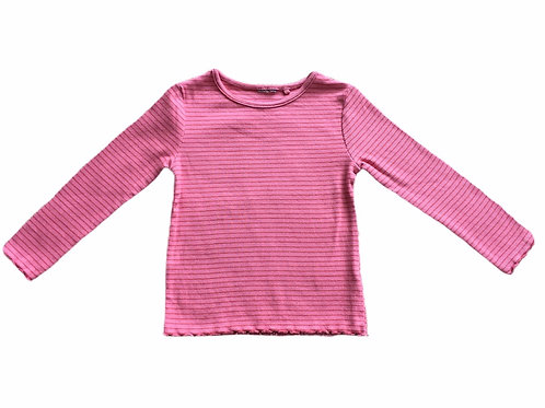 Ex Chain Store 12-18 months Pink with Burnt Orange Stripes Top - BRAND NEW