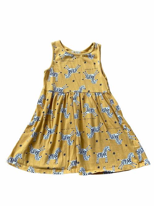 F&F 4-5 years Mustard Zebra 'One of a kind' Dress