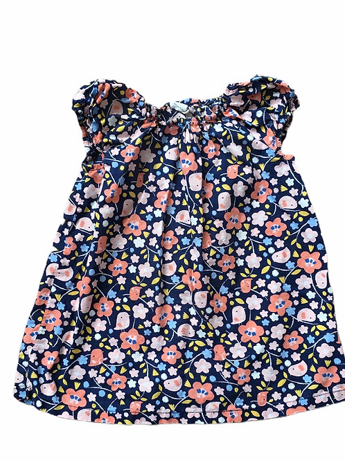 H&M 12-18 months Navy Bird Sleeveless Dress
