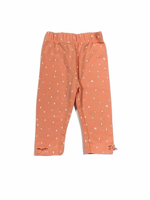 George 3-6 months Peach Polka Dot Leggings