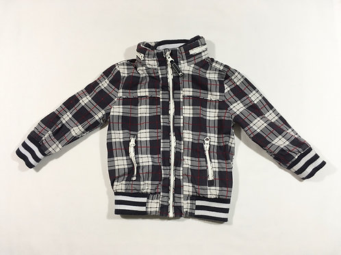 TU 9-12 months Check Hooded Coat