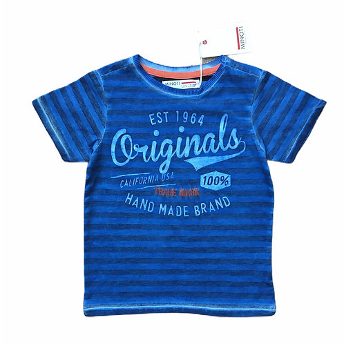 Minoti 7-8 years 100% Cotton Blue Acid Wash T-shirt - BRAND NEW