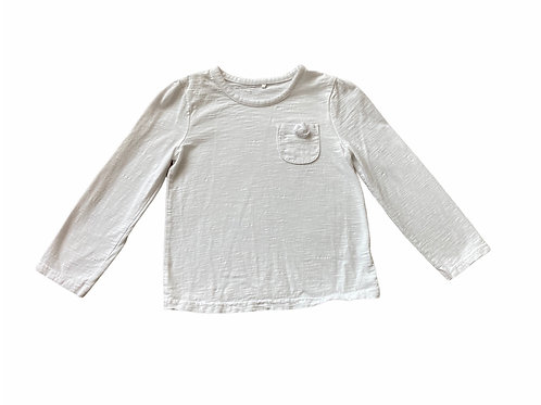 George 3-4 years White Long Sleeve Top with Pocket