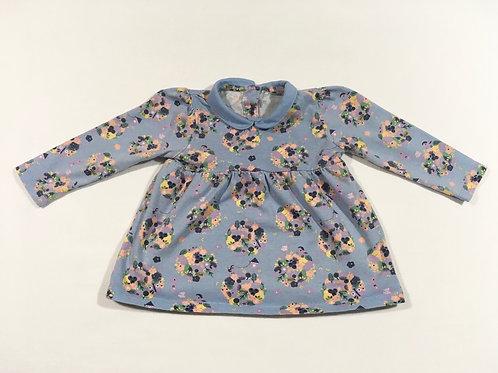 TU 3-6 months Blue Long Sleeve Floral Top