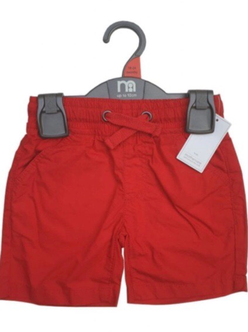 Mothercare 12-18 months Red 100% Cotton Shorts - BRAND NEW