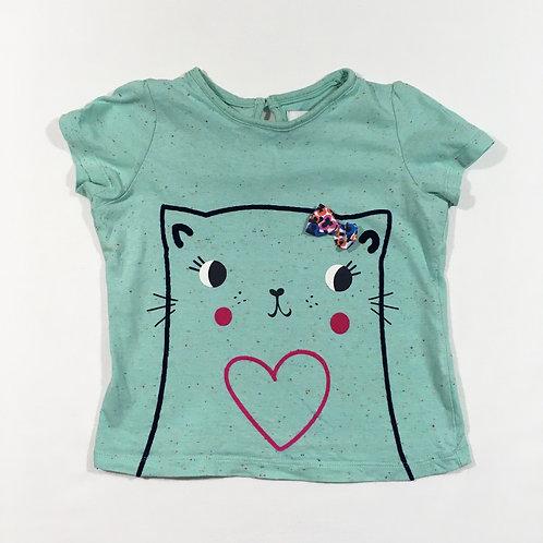 M&S 3-4 years Cat T-shirt