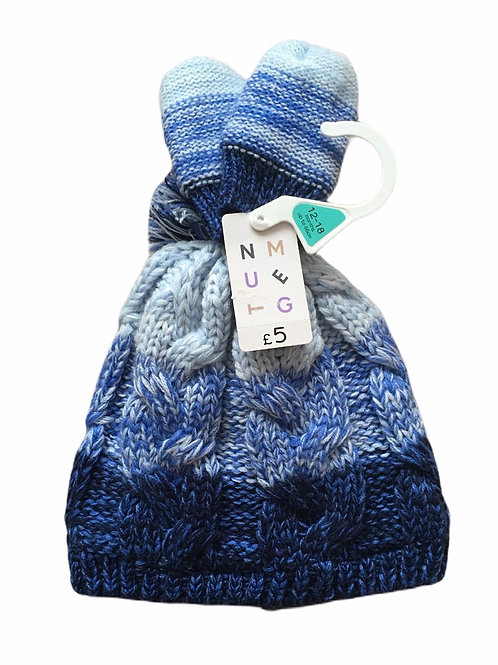 Nutmeg 12-18 months Winter Hat and Mittens - BRAND NEW
