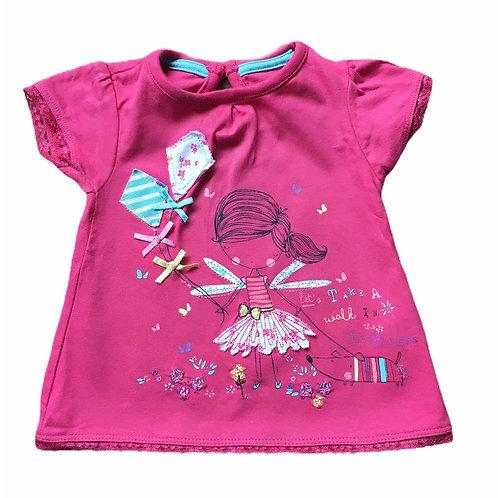 Primark 0-3 months Pink Fairy T-Shirt
