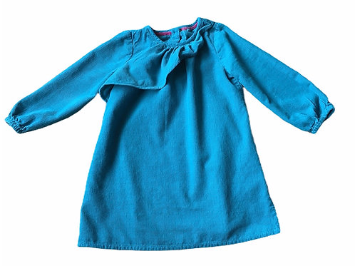 M&S 1.5-2 years Turquoise Long Sleeve Cord Dress