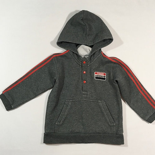 Adidas 3 years Grey and Red Hoodie