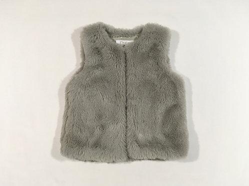 F&F 9-12 months Grey Fur Gilet Bodywarmer