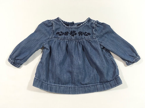 Baby Gap 3-6 months Denim Long Sleeve Top
