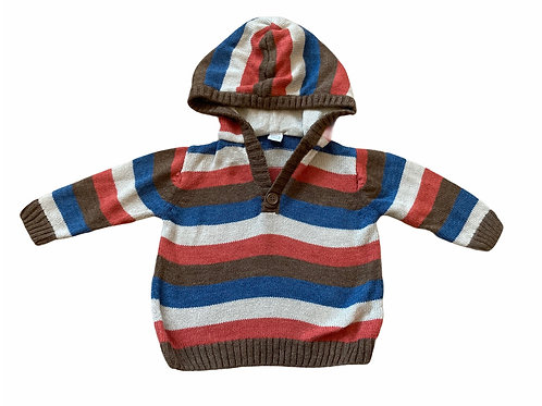 TU 3-6 months Striped Hoodie