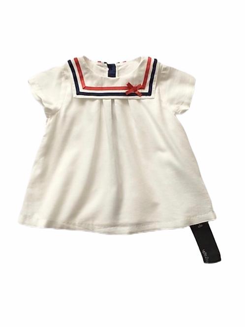 M&S Autograph 3-6 months White Sailor Top - BRAND NEW