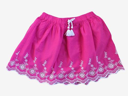Nutmeg 5-6 years Pink and White Skirt