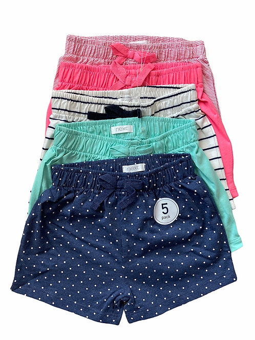 Ex Highstreet 5-6 years 5 pack of Shorts - BRAND NEW