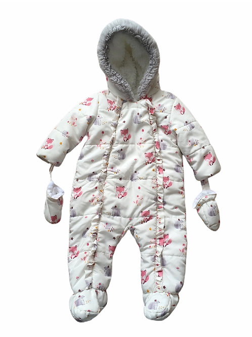 George 6-9 months Woodland Animal Pramsuit with Mittens