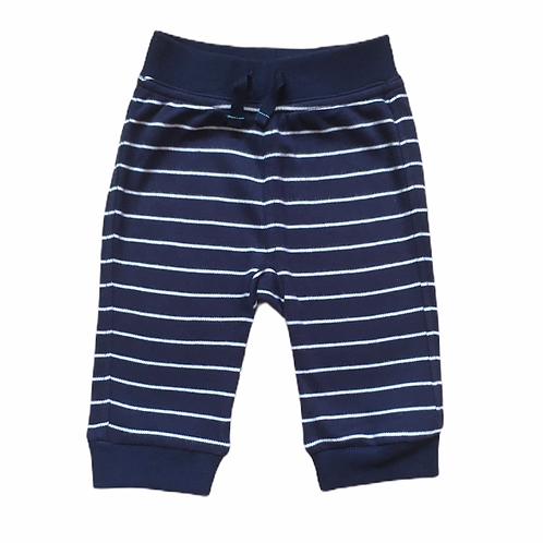George 0-3 months Navy and White Striped Joggers