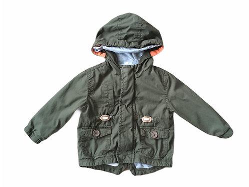 F&F 6-9 months Khaki Lightweight Parka Coat